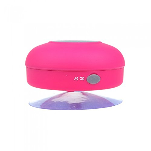 Dodocool Mini Hifi Wireless Bluetooth 3.0 Handsfree Mic Suction Speaker Shower Car Water Resistant For Iphone Ipad Pink