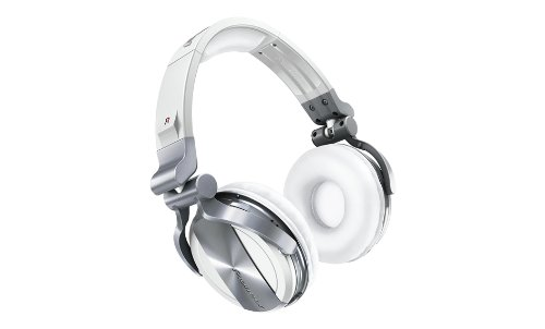 Pioneer Dj Hdj-1500 Matte White Closed-Back Dj Heaphones With Soft-Touch Housing And Rotating Ear Cups