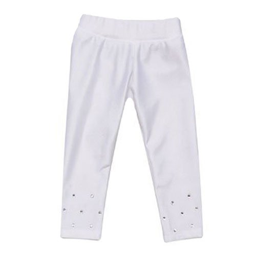 White Sparkle Doll Leggings, Fits 18 Inch American Girl Dolls, Rhinestones & Stretchy Fabric by Sophia's