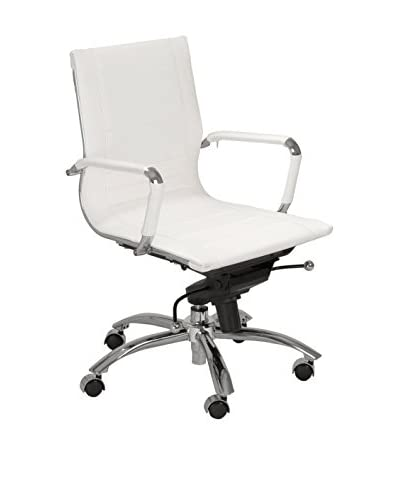 Euro Style Owen Low Back Office Chair, White