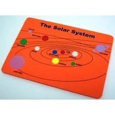 Foam Puzzle Solar System Assorted Colors - 1