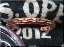 Men's Solid Copper 8 Inch Magnetic Cuff Bracelet #844