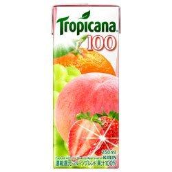 キリン トロピカーナ 100%ジュース フルーツブレンド 紙パック250ml×24本入【×2ケース:合計48本】