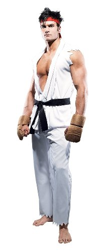 [Paper Magic Street Fighter Ryu Mens Costume] (Ryu Costume)