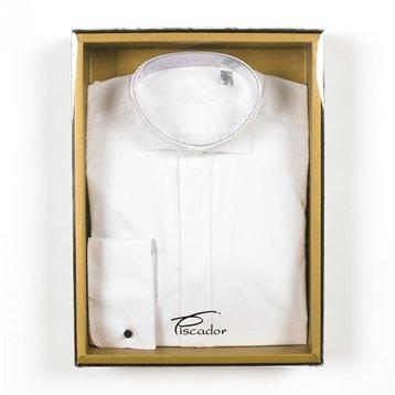 Piscador Plain White Victorian Dresswear Shirt White, 14.5