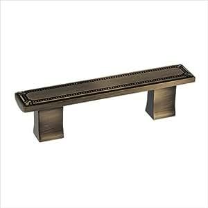 Richelieu Hardware Bp78096ae Classic Metal Bar Pull With Decorative Trim 3 Inch Antique English