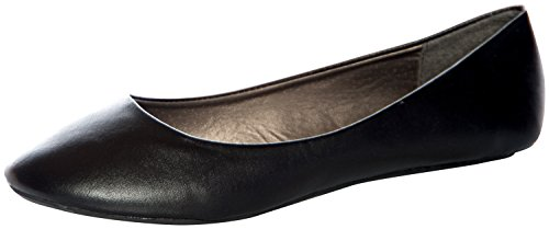 West Blvd Women's Basic Round Toe Ballet Flats