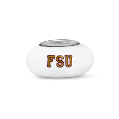 Florida State Seminoles Fenton Glass Bead Fits Most European Style Charm Bracelets
