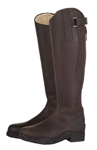 HKM Ladies Country 'Artic' Leather Horse Riding Yard Boots Length Standard Width