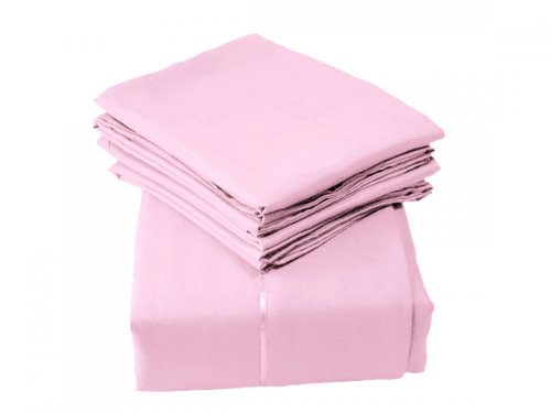 Pink Queen Size Sheets back-414192