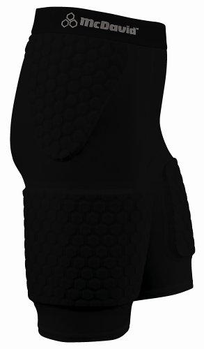 McDavid Thudd Hexpad with Extended Thigh (Black, Large)