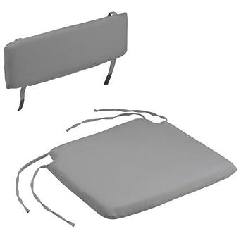 6427d92f579502 coussin pour chaise pliante - assise + dossier (Gris souris)   - fr-shop