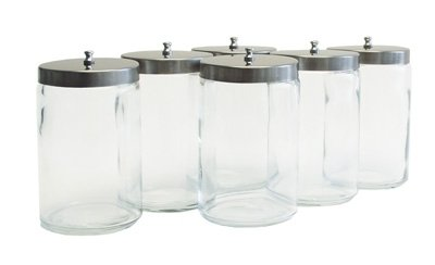 Unlabeled Glass Sundry Jars With Lids 6/pack)