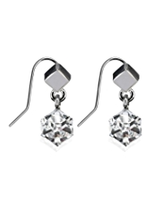 Autograph Double Cube Drop Earrings MADE WITH SWAROVSKI® ELEMENTS
