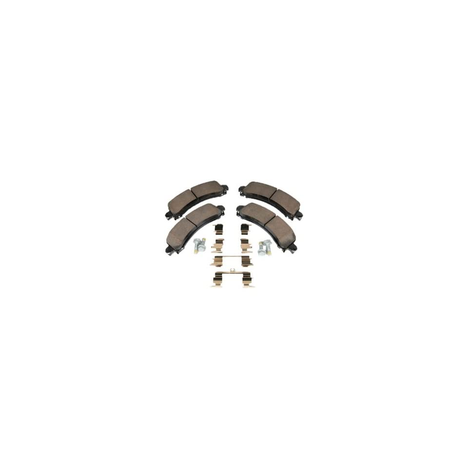 ACDelco 171 0870 GM Original Equipment Rear Disc Brake Pad Kit with Brake Pads, Clips, and Bolts