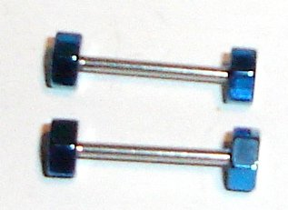 Body Accentz™ Nipple Ring Bars Nuts and Bolts