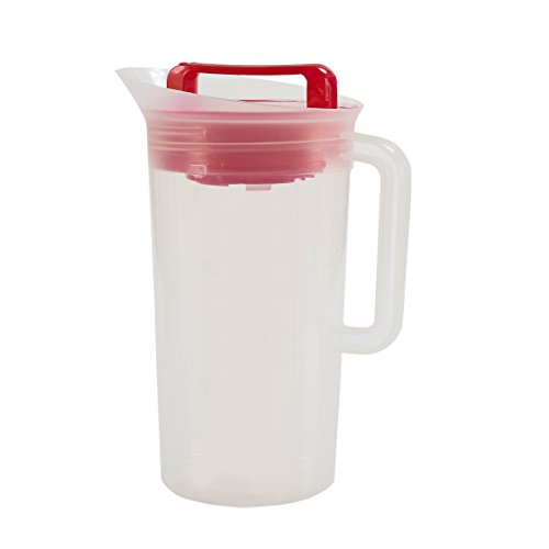 Primula Today Shake and Infuse Pitcher - Spacious and Innovative Infusion Chamber - 100% BPA, PVC, Phthalate, and Lead Free - 3 Quarts - Red (Pitcher Shake compare prices)