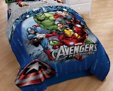 Marvel Avengers Classic Halo Reversible Comforter, Twin/Full (Captain America In Bedding compare prices)