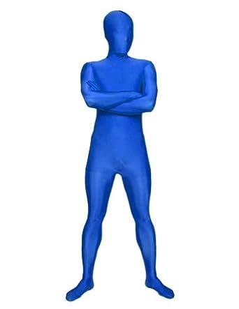 SecondSkin Full Body Spandex/Lycra Suit (L, Blue)