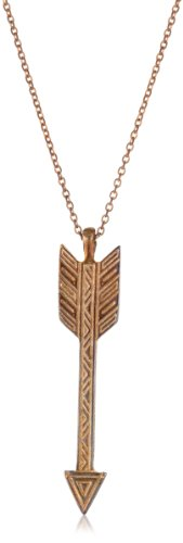 House of Harlow 1960 Rose Gold-Plated Arrow Drop Necklace