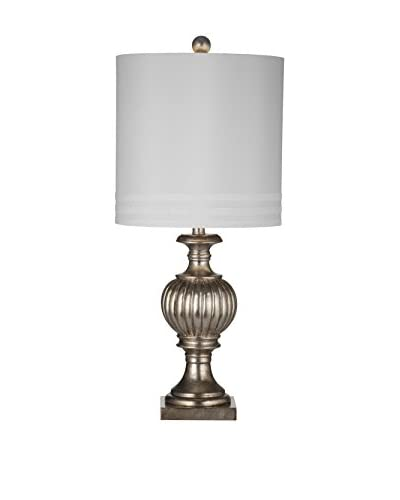 Bassett Mirror Company Senoia Table Lamp, Silver Leaf