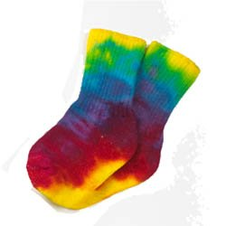 Maggie;S Functional Organics Children;S Socks Tie Dye Youth Crew Singles Youth 2 8-9 Years 218230 front-443781