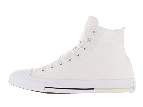 Converse Unisex Chuck Taylor All Star Hi Top Fashion Sneaker Shoe - White/Volt/Black - Mens - 11