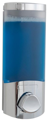 Rangement & Cie RAN6014 - Dispenser per sapone liquido Uno, superficie cromata 360 ml