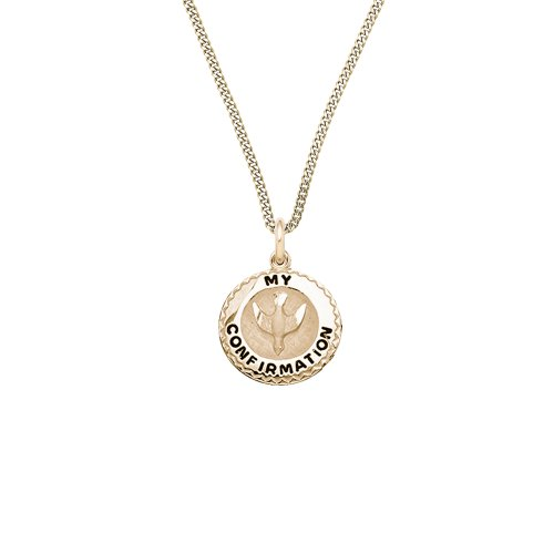 Children's 14k Gold Filled Round My Confirmation Pendant Necklace, 20