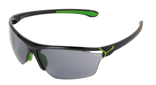Cébé Cinetik Occhiali da Sole, Nero (Shiny Black Green), L