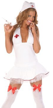 Sexy Ladies Naughty Nurse Fancy Dress Costume Size 10 – 12