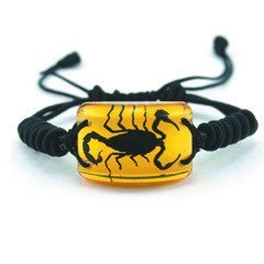 REALBUG Gold Scorpion Bracelet, Black - 1