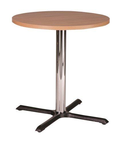 Elliot base rotonda in ghisa piccolo tavolo da pranzo con top in diverse misure e finiture, metallo, Beige, 80 cm