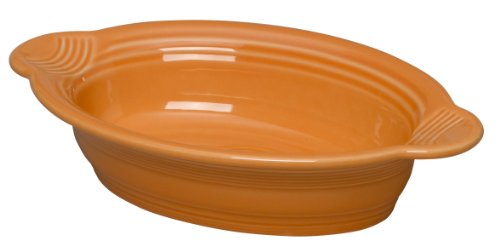 Fiesta 9 Inch by 5 Inch Individual Oval Casserole, Tangerine