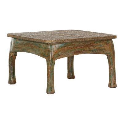 Stylefurniture 6038 Couchtisch, Holz, grun / braun, 75 x 75 x 47 cm