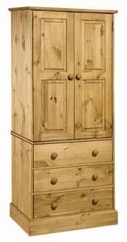 Cotswold new spec 2 door, 3 drawer wardrobe , from centurion pine