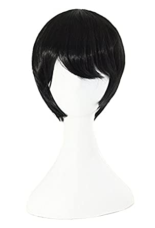 MapofBeauty Short Anime Cosplay Wig Men's Full Wig
