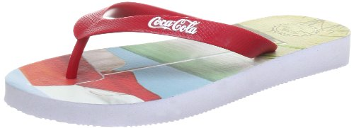 Coca Cola Unisex - Adult Coca-Cola Summer Flip-Flops Red Rot (Red) Size: 35/36