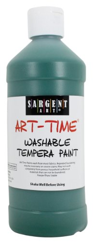 Sargent Art 22-3466 16-Ounce Art Time Washable Tempera, Green