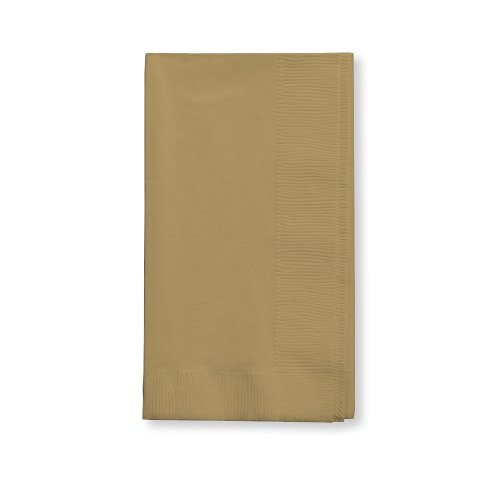 Creative Converting Touch of Color 100 Count 2-Ply Paper Dinner Napkins, Glittering Gold