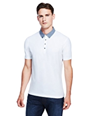 Autograph Pure Cotton Micro Textured Polo Shirt
