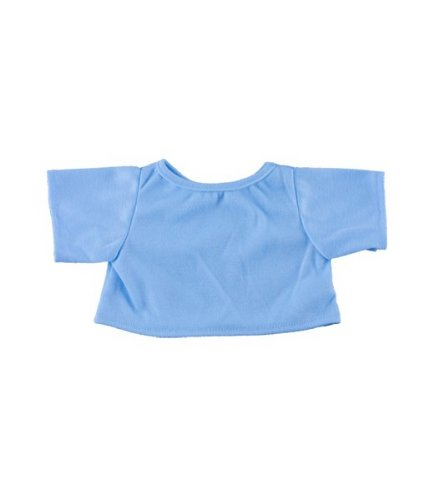 "Light Blue T-Shirt Fits Most 8""-10"" Webkinz, Shining Star and 8""-10"" Make Your Own Stuffed Animals and Build-A-Bear"