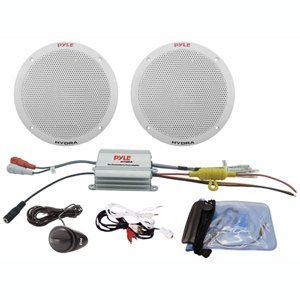 Pyle PLMRKT2A 2 Channel Waterproof MP3/iPod Amplified 6.5'' Marine Speaker System