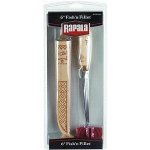 "Rapala 6"" Fish'N Fillet Knife / Single Stage Sharpener / Sheath"
