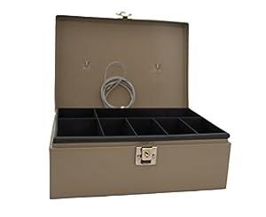 PM Company SecurIT Anti-Theft Lock 'n Latch Cash Box, 11 x 7.75 x 4 Inches, Beige, 1 per Box (04975)