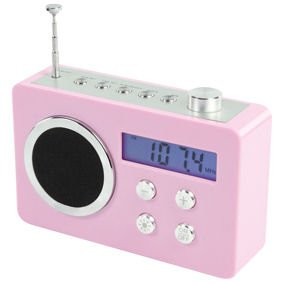ex pro portable fm radio alarm clock audio input electronics. Black Bedroom Furniture Sets. Home Design Ideas