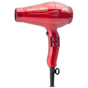 Parlux 3800 Ceramic Ionic Hair Dryer (Eco Friendly Dryer) - Red