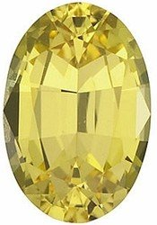 Oval Shape Yellow Sapphire Beautiful Real Loose Gemstone, Quality Grade, AA 5.00 x 4.00 mm