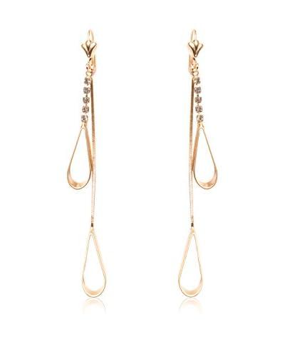 Sevil 18K Gold-Plated & Crystal Teardrop Earrings