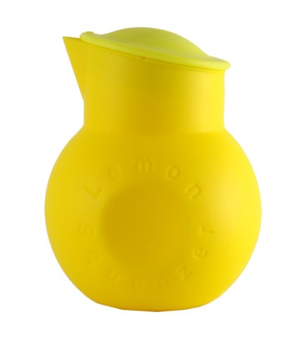 Make My Day Silicone Lemon Squeezer and Juice Keeper, Yellow/Lime